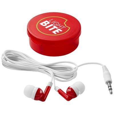 Picture of VERSA EARBUDS in Clear Transparent Red-white Solid