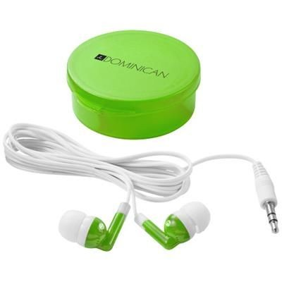 Picture of VERSA EARBUDS in Clear Transparent Green-white Solid