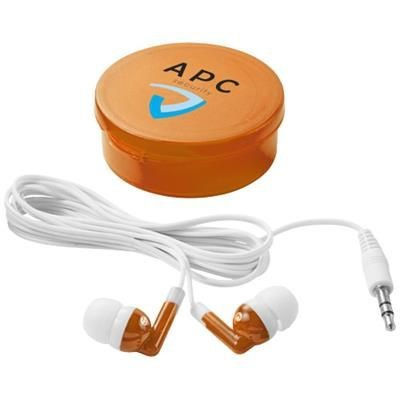 Picture of VERSA EARBUDS in Clear Transparent Orange-white Solid