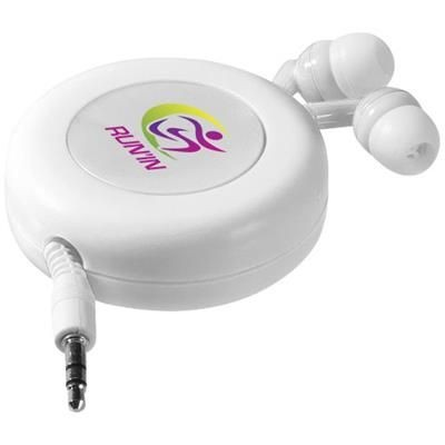 Picture of REELY RETRACTABLE EARBUDS in White Solid