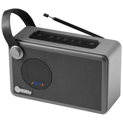 Picture of WHIRL ALARM CLOCK RADIO in Black Solid-silver