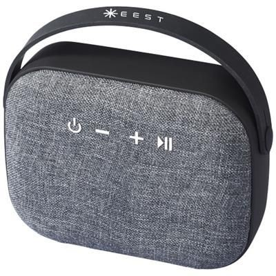 Picture of WOVEN FABRIC BLUETOOTH® SPEAKER in Black Solid