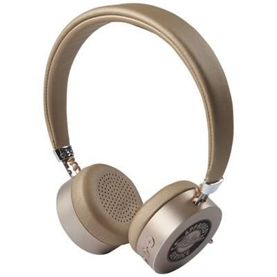 Picture of MILLENNIAL ALUMINIUM METAL BLUETOOTH® HEADPHONES in Gold