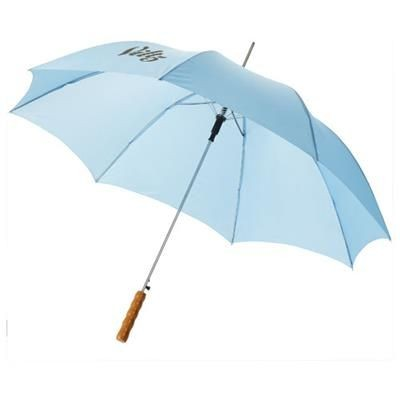 Picture of LISA 23 AUTO OPEN UMBRELLA with Wood Handle in Blue