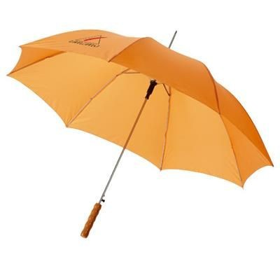 Picture of LISA 23 AUTO OPEN UMBRELLA with Wood Handle in Orange