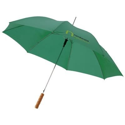 Picture of LISA 23 AUTO OPEN UMBRELLA with Wood Handle in Green