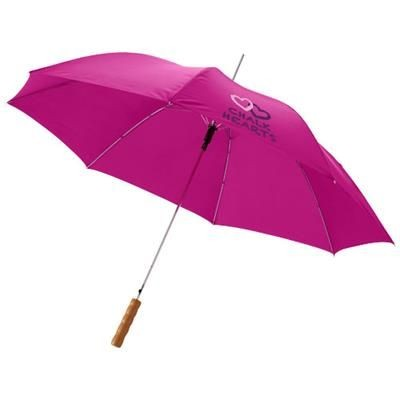 Picture of LISA 23 AUTO OPEN UMBRELLA with Wood Handle in Magenta