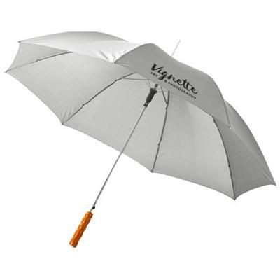 Picture of LISA 23 AUTO OPEN UMBRELLA with Wood Handle in Pale Grey