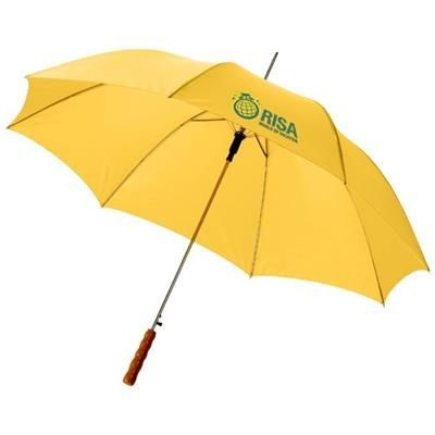 Picture of LISA 23 AUTO OPEN UMBRELLA with Wood Handle in Yellow