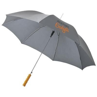 Picture of LISA 23 AUTO OPEN UMBRELLA with Wood Handle in Grey