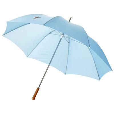 Picture of KARL 30 GOLF UMBRELLA with Wood Handle in Process Blue