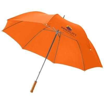 Picture of KARL 30 GOLF UMBRELLA with Wood Handle in Orange