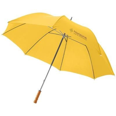 Picture of KARL 30 GOLF UMBRELLA with Wood Handle in Yellow