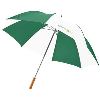 Picture of KARL 30 GOLF UMBRELLA with Wood Handle in Green-white Solid