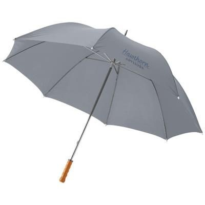 Picture of KARL 30 GOLF UMBRELLA with Wood Handle in Grey