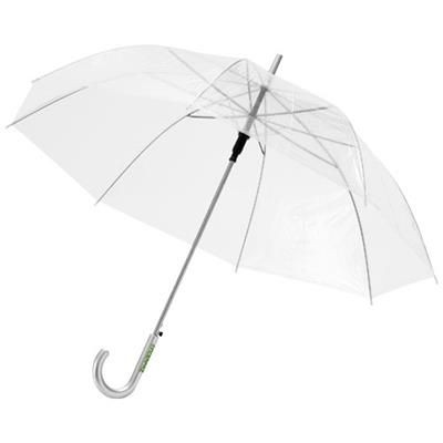 Picture of KATE 23 CLEAR TRANSPARENT AUTO OPEN UMBRELLA in Clear Transparent White