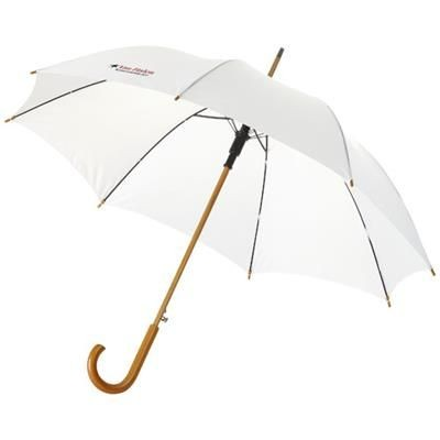 Picture of KYLE 23 AUTO OPEN UMBRELLA WOOD SHAFT AND HANDLE in White Solid