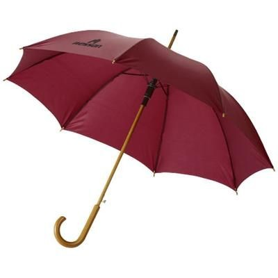 Picture of KYLE 23 AUTO OPEN UMBRELLA WOOD SHAFT AND HANDLE in Red