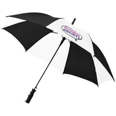 Picture of BARRY 23 AUTO OPEN UMBRELLA in Black Shiny-white Solid