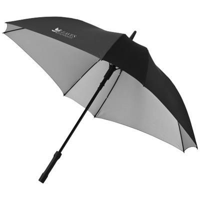Picture of SQUARE 23 DOUBLE-LAYERED AUTO OPEN UMBRELLA in Black Solid-silver