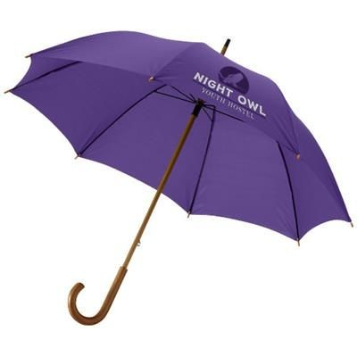 Picture of JOVA 23 UMBRELLA with Wood Shaft & Handle in Lavender