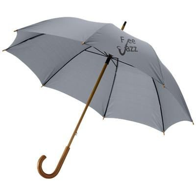 Picture of JOVA 23 UMBRELLA with Wood Shaft & Handle in Grey