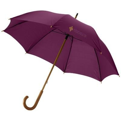 Picture of JOVA 23 UMBRELLA with Wood Shaft & Handle in Burgundy