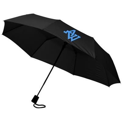 Picture of WALI 21 FOLDING AUTO OPEN UMBRELLA in Black Solid
