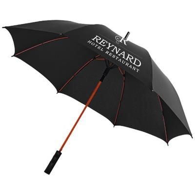 Picture of 23 INCH SPARK AUTO OPEN STORM UMBRELLA in Black Solid-red