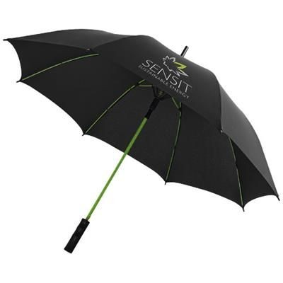 Picture of STARK 23 WINDPROOF AUTO OPEN UMBRELLA in Black Solid-lime