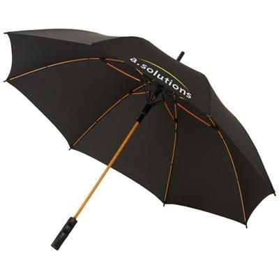 Picture of STARK 23 WINDPROOF AUTO OPEN UMBRELLA in Black Solid-orange