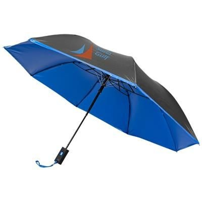 Picture of 21 INCH SPARK 2-SECTION AUTOMATIC UMBRELLA in Black Solid-blue