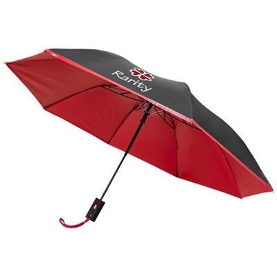 Picture of 21 INCH SPARK 2-SECTION AUTOMATIC UMBRELLA in Black Solid-red