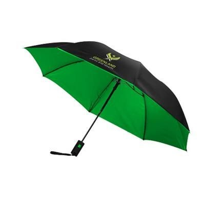 Picture of 21 INCH SPARK 2-SECTION AUTOMATIC UMBRELLA in Black Solid-green