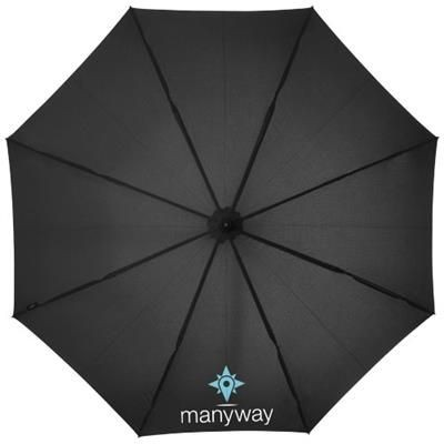 Picture of NOON 23 AUTO OPEN WINDPROOF UMBRELLA in Black Solid