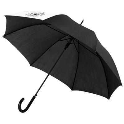 Picture of LUCY 23 AUTO OPEN UMBRELLA in White Solid-black Solid