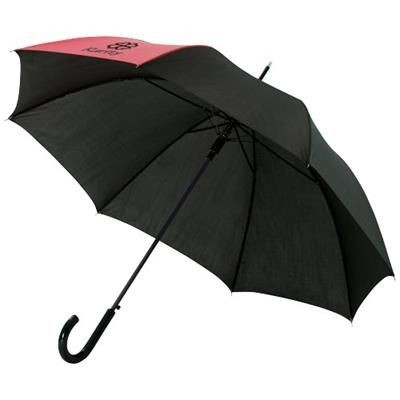 Picture of LUCY 23 AUTO OPEN UMBRELLA in Red-black Solid