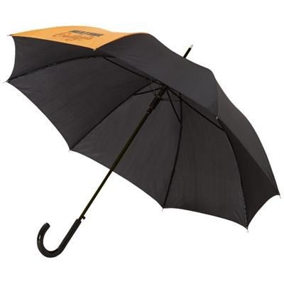 Picture of LUCY 23 AUTO OPEN UMBRELLA in Orange-black Solid