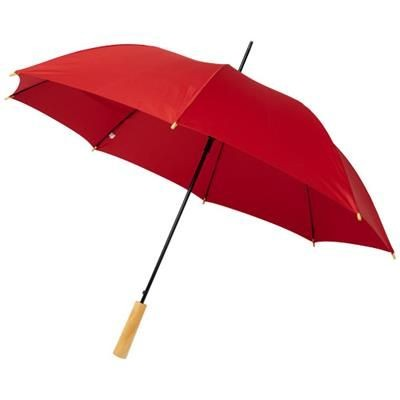 Picture of ALINA 23 AUTO OPEN RECYCLED PET UMBRELLA in Red