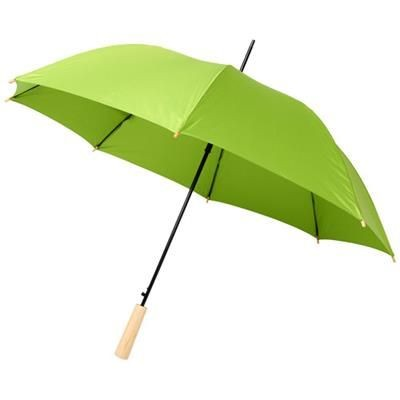 Picture of ALINA 23 AUTO OPEN RECYCLED PET UMBRELLA in Lime