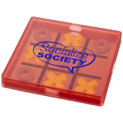 Picture of WINNIT MAGNETIC TIC TAC TOE GAME in Clear Transparent Red
