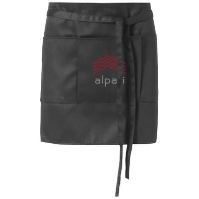 Picture of LEGA SHORT APRON with 3 Pockets in Black Solid