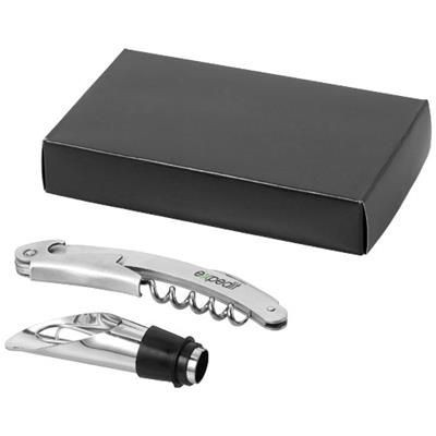 Picture of SAUVY 2-PIECE WINE SET in Silver
