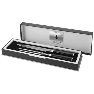 Picture of FINESSE CARVING SET in Black Solid-silver