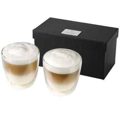Picture of BODA 2-PIECE GLASS COFFEE CUP SET in Clear Transparent