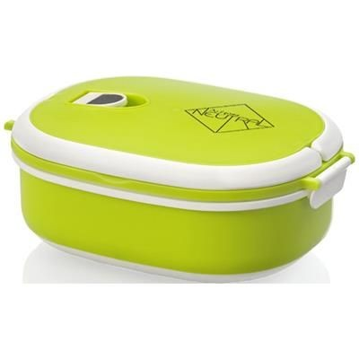 Picture of SPIGA 750 ML MICROWAVE SAFE LUNCH BOX in Green-white Solid