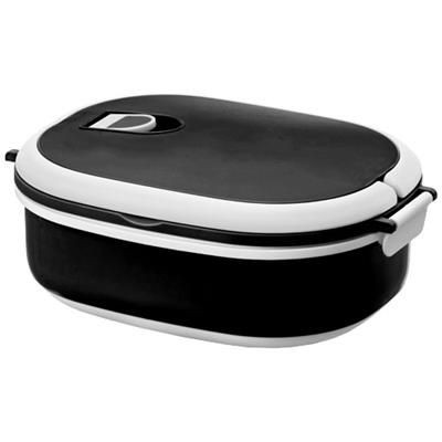 Picture of SPIGA 750 ML MICROWAVE SAFE LUNCH BOX in Black Solid-white Solid