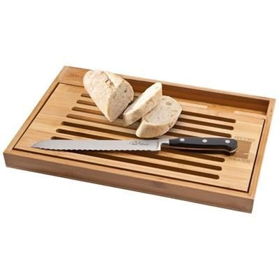 Picture of BISTRO CUTTING BOARD with Bread Knife in Wood