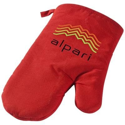 Picture of ZANDER COTTON OVEN MITT in Red