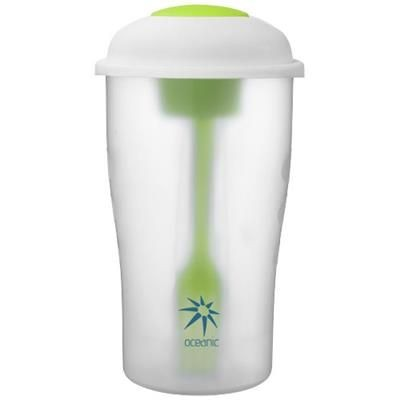 Picture of SHAKEY SALAD CONTAINER SET in Lime-transparent